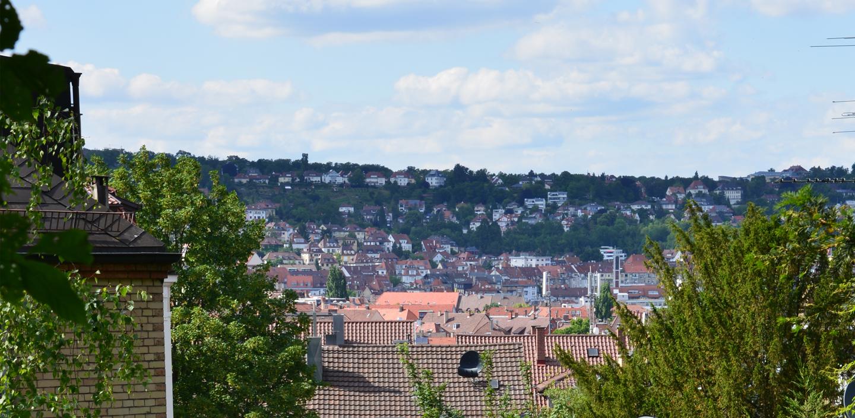 Die Aussicht aus unserem Garten über das schöne Stuttgart